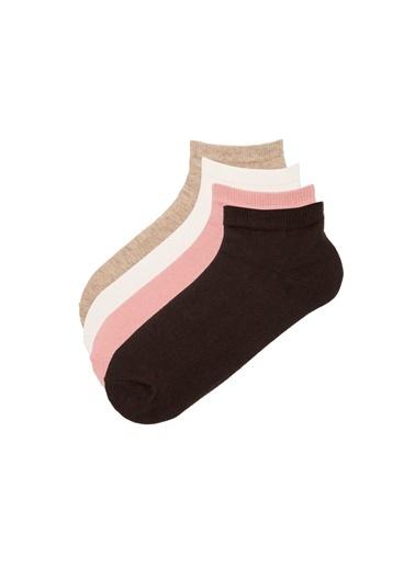 Penti Basic 4 Lü Patik Çorap Kahve
